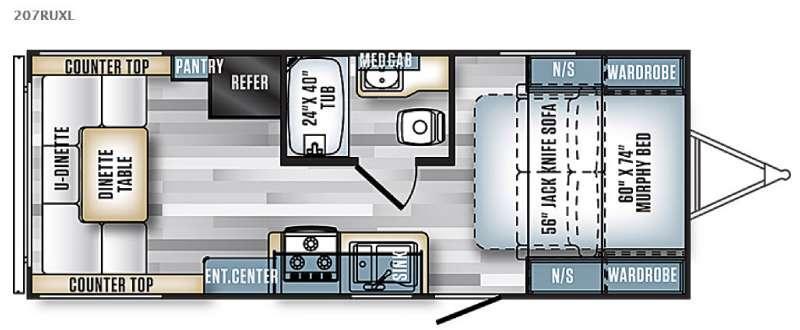 Salem Cruise Lite 207RUXL Floorplan Image