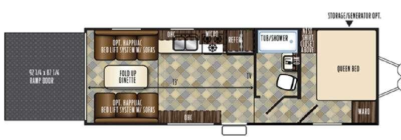 Floorplan - 2017 Forest River RV Vengeance Touring Edition 23FB13