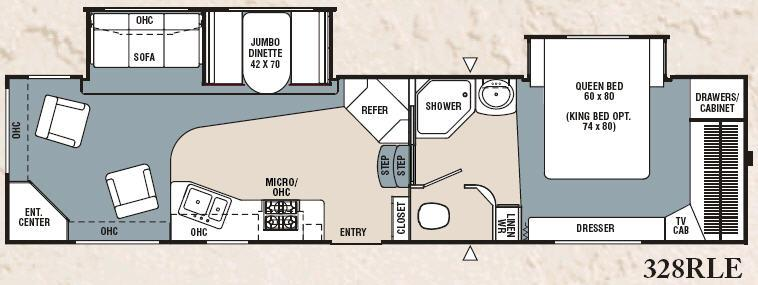 Floorplan - 2007 Coachmen RV Chaparral 328RLE