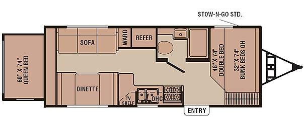 Floorplan - 2007 Coachmen RV Captiva 235 RS
