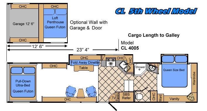 Floorplan - 2008 Warrior Mfg Weekend Warrior Wide Body CL4005
