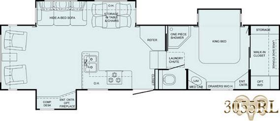 Floorplan - 2008 Heartland Bighorn 3055RL
