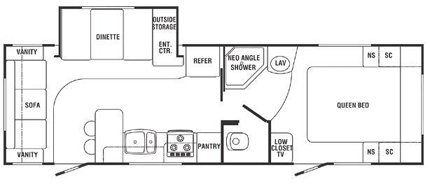 Floorplan - 2007 Holiday Rambler Aluma-Lite 8308S