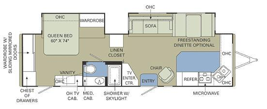 Floorplan - 2007 Holiday Rambler Presidential 32 FKD