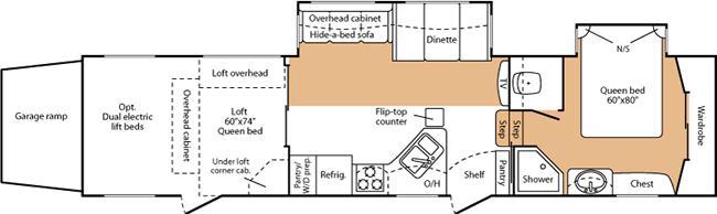 Floorplan - 2007 Keystone RV Fuzion 362