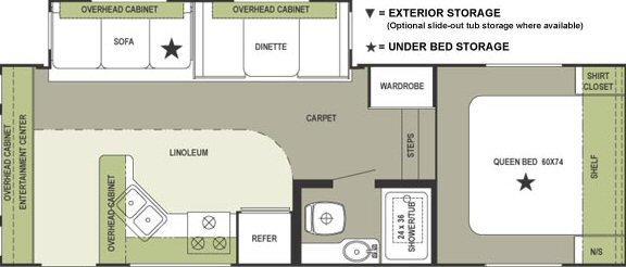 Floorplan - 2004 Forest River RV Rockwood 8242 SS