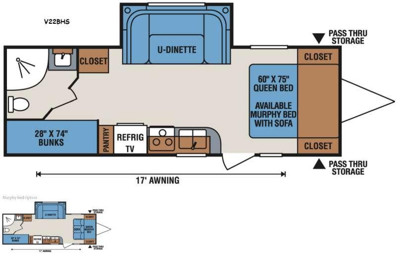 Vision V22BHS Floorplan Image