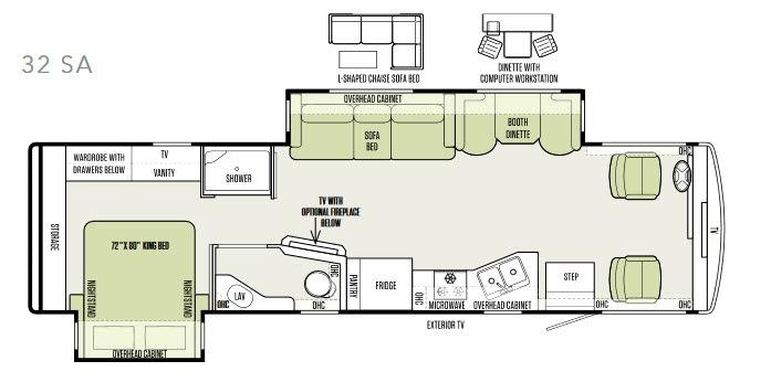 Allegro 32 SA Floorplan Image