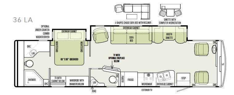 Allegro 36 LA Floorplan Image