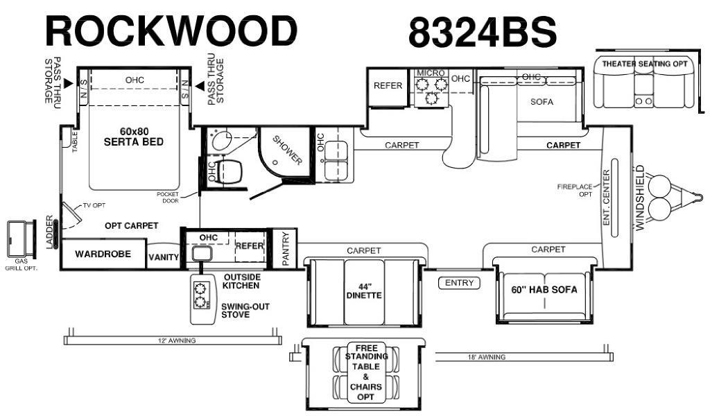 Rockwood Signature Ultra Lite 8324BS Floorplan