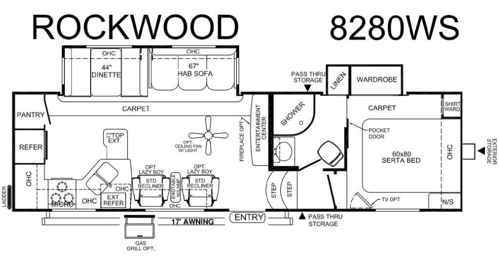 Rockwood Signature Ultra Lite 8280WS Floorplan Image