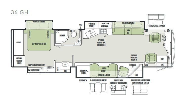 Phaeton 36 GH Floorplan Image