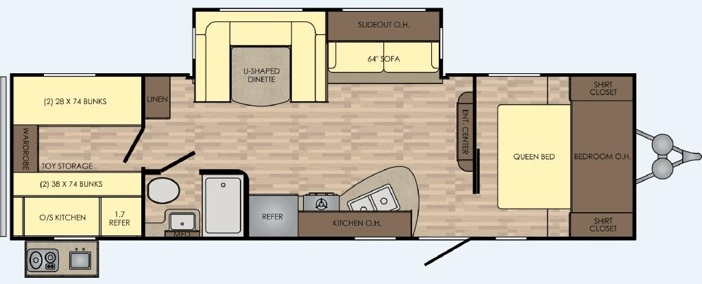 Zinger Z1 Series ZR290KB Floorplan Image