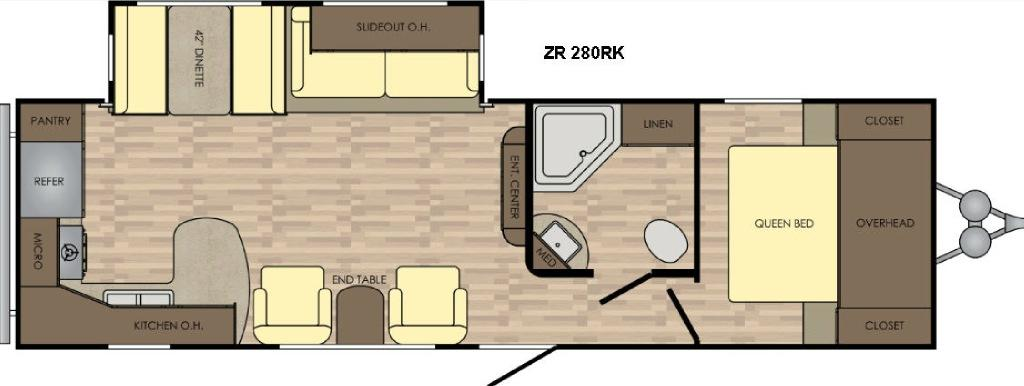 Zinger Z1 Series ZR280RK Floorplan Image