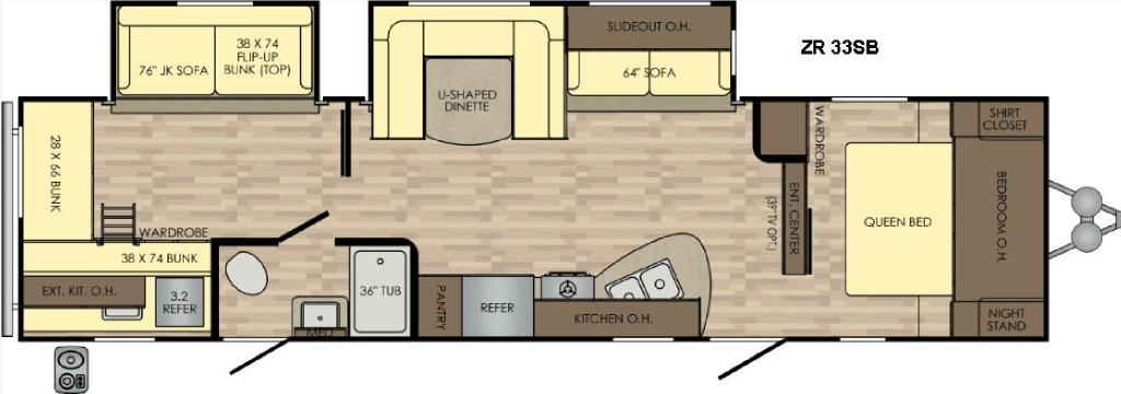 Zinger ZR33SB Floorplan Image