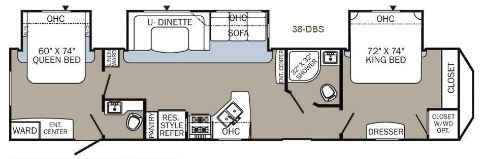 Puma Destination 38-DBS Floorplan Image