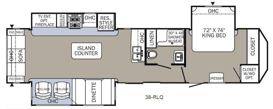Puma Destination 38-RLQ Floorplan Image