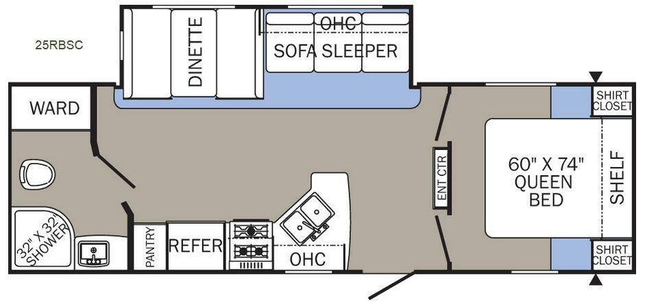 Puma XLE 25RBSC Floorplan Image