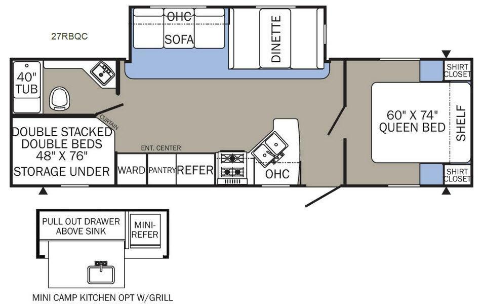 Puma XLE 27RBQC Floorplan Image