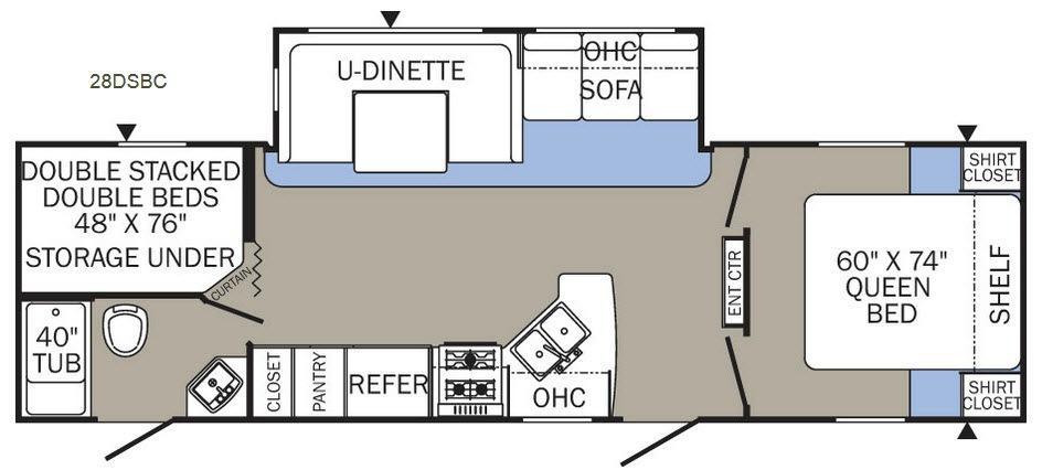 Puma XLE 28DSBC Floorplan Image