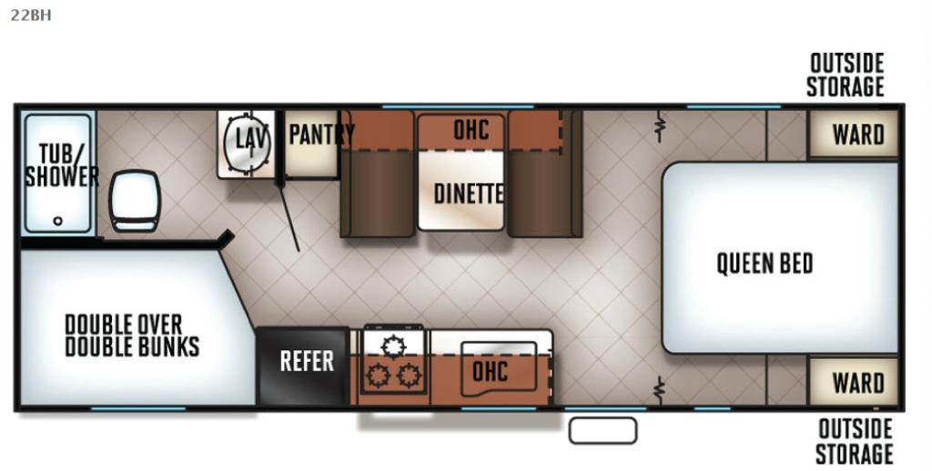 Cherokee Grey Wolf 22BH Floorplan Image