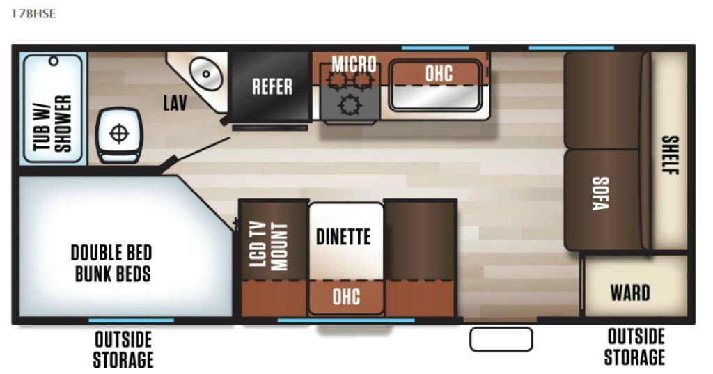 Cherokee Grey Wolf 17BHSE Floorplan Image