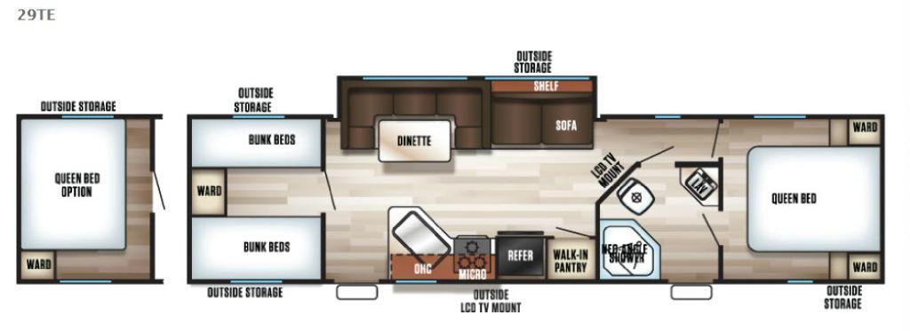 Cherokee Grey Wolf 29TE Floorplan Image