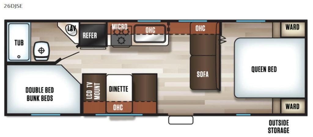 Cherokee Grey Wolf 26DJSE Floorplan Image