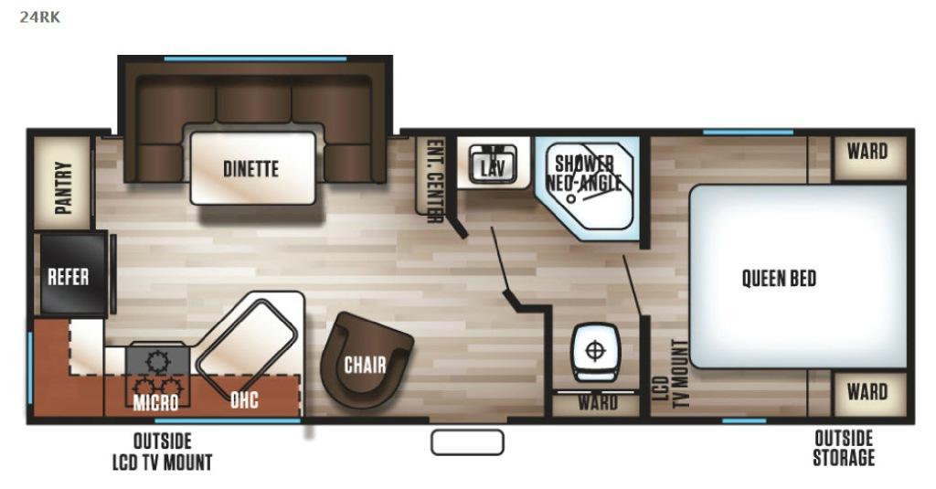 Cherokee Grey Wolf 24RK Floorplan Image