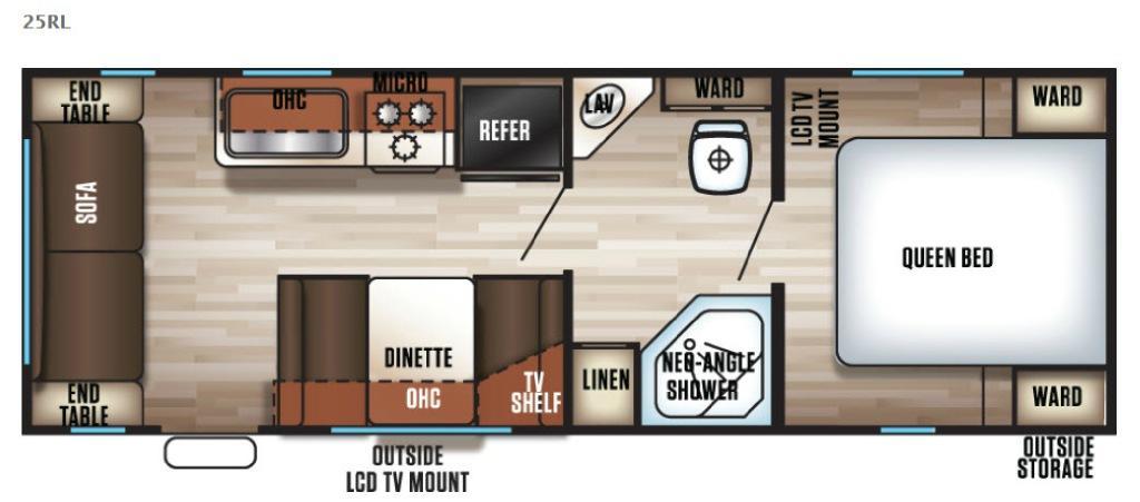 Cherokee Grey Wolf 25RL Floorplan Image