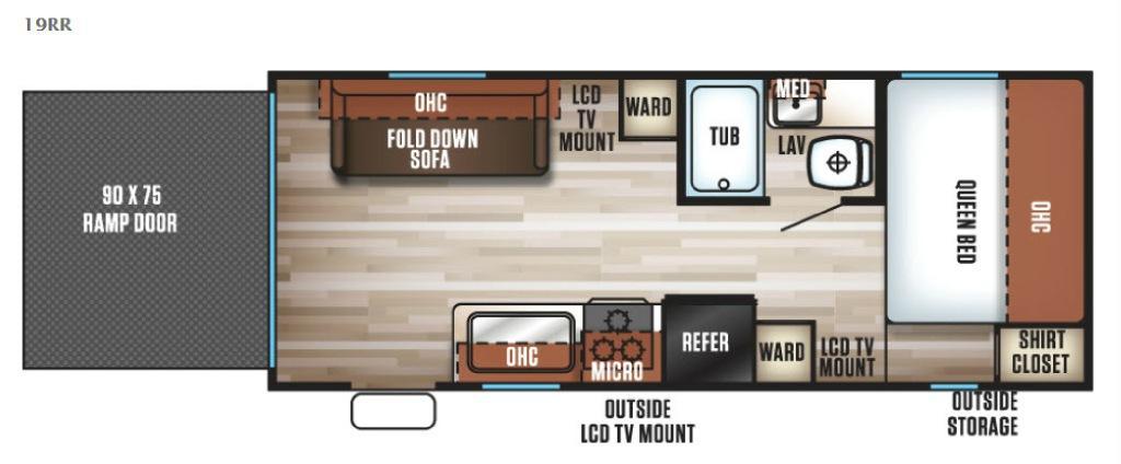 Cherokee Grey Wolf 19RR Floorplan Image
