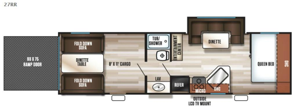 Cherokee Grey Wolf 27RR Floorplan Image