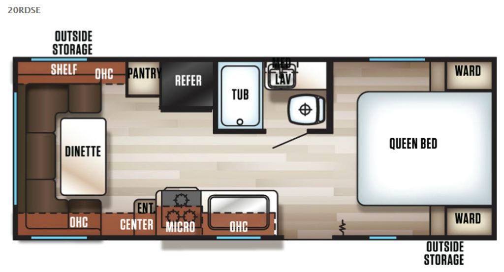 Cherokee Grey Wolf 20RDSE Floorplan Image
