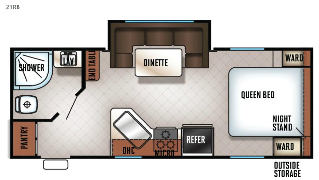 Cherokee Grey Wolf 21RB Floorplan Image