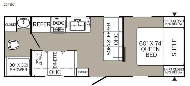 Puma XLE 23FBC Floorplan Image