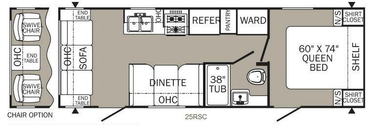Puma XLE 25RSC Floorplan Image