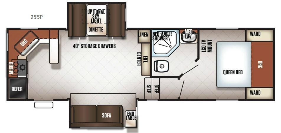 Cherokee 255P Floorplan Image