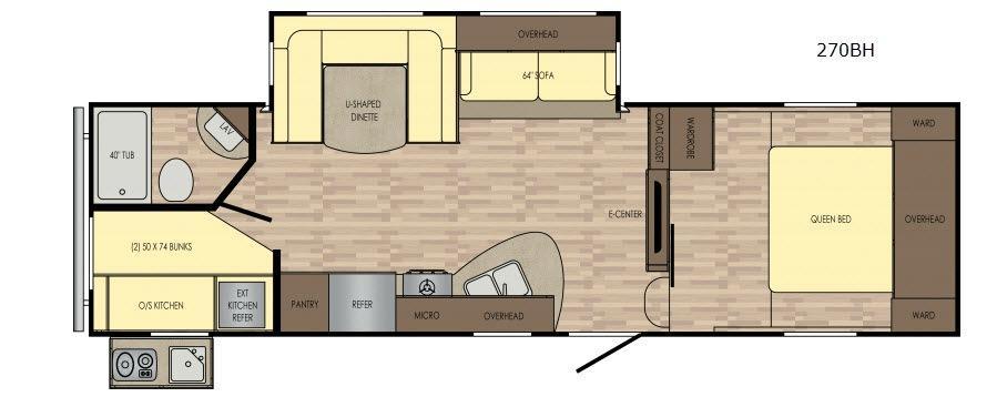 Volante 270BH Floorplan Image