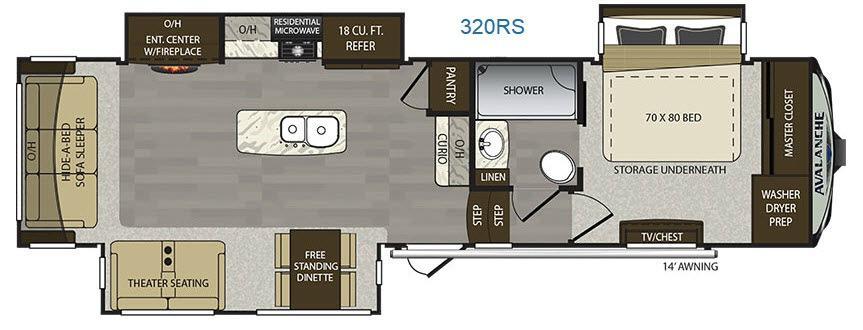 Avalanche 320RS Floorplan Image