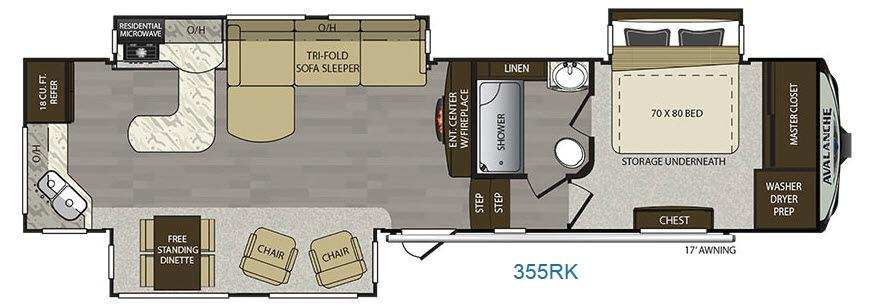Avalanche 355RK Floorplan Image