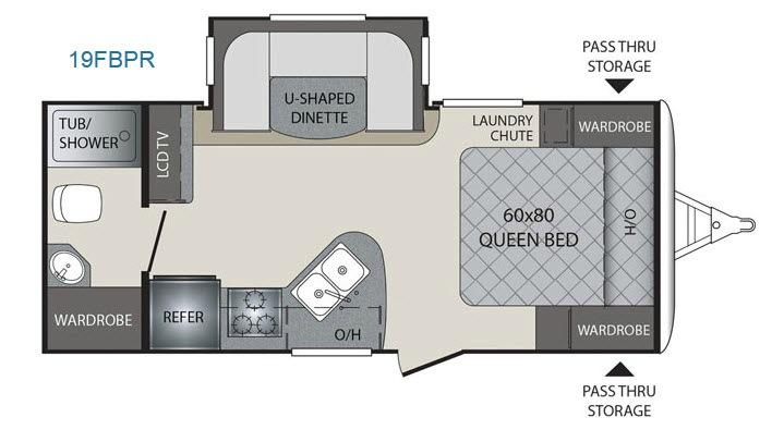 Premier Ultra Lite 19FBPR Floorplan Image