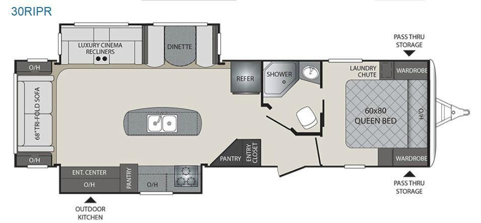 Premier Ultra Lite 30RIPR Floorplan Image