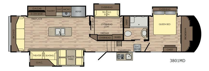 Volante 3801MD Floorplan Image