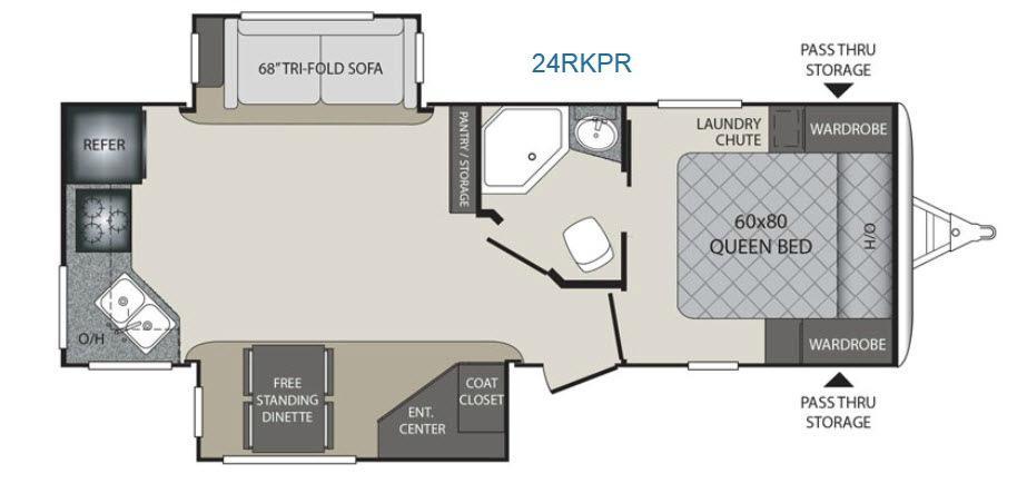 Premier Ultra Lite 24RKPR Floorplan Image