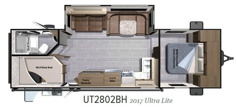Open Range Ultra Lite 2802BH Floorplan Image