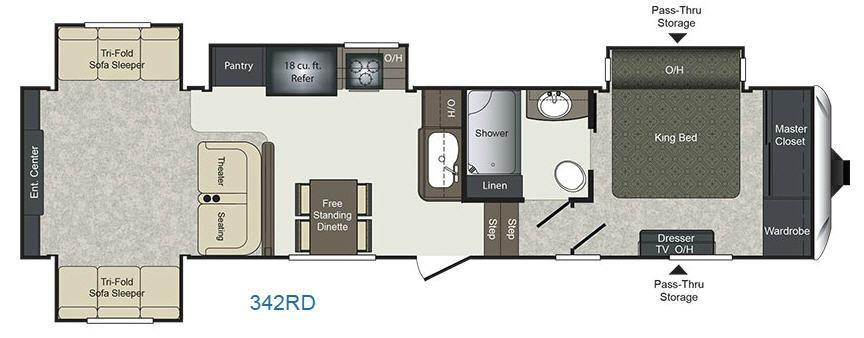 Sprinter 332DEN Floorplan Image