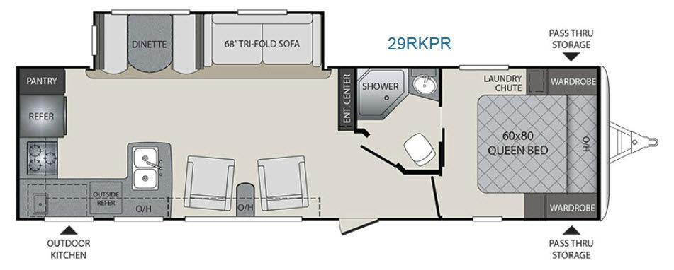 Premier Ultra Lite 29RKPR Floorplan Image