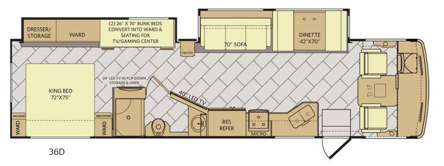 Storm 36D Floorplan Image