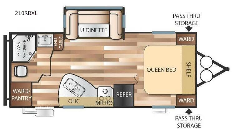 Wildwood X-Lite 210RBXL Floorplan Image