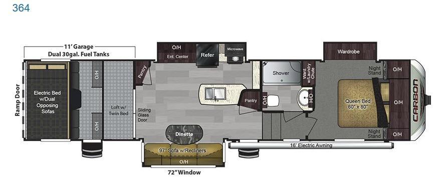 Carbon 364 Floorplan Image
